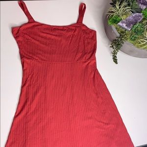 NWT All in Favor Ribbed Red Mini Dress Sz Large